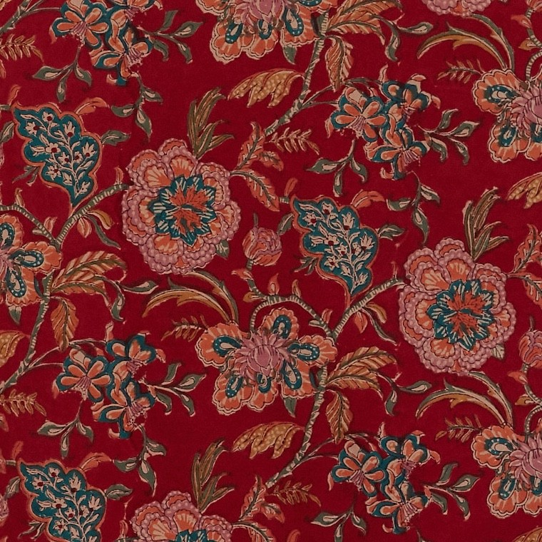 Chintz Antique Red